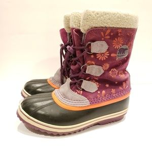 Sorel kids size 6 eur 38 cm 24 duck snow boots